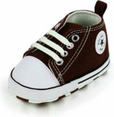Muply Baby Schoenen - Kinderschoenen - Eerste Wandelaars - Bruin - Maat 0-6 M