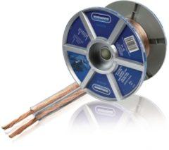 Bandridge SpeakerFlex OFC luidspreker kabel - 2x 1,50mm² / transparant - 100 meter