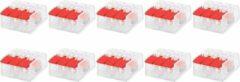 SBE Lasklem Slim Set 10 Stuks - 3 Polig met Klemmetjes - Rood - BES LED