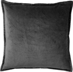 Antraciet-grijze Dutch Decor Kussenhoes Caith 50x50 cm Charcoal Gray