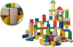 Jouéco houten blokken in emmer 100 stuks