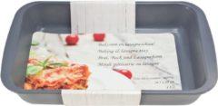 Merkloos / Sans marque 1x Zwarte rechthoekige glazen ovenschaal 1,8 liter 29,5 x 18 x 5 cm - Ovenschotel schalen - Bakvorm - Ovenschalen