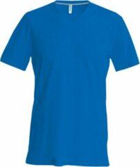 Kariban Heren Korte Mouw V Hals Slim Fit T-Shirt (Koningsblauw)