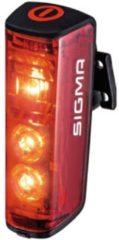 Sigma Achterlicht Blaze LED werkt op een accu Rood, Zwart