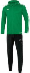 Groene Jako Trainingspak polyester met kap striker 2.0 m9419-06