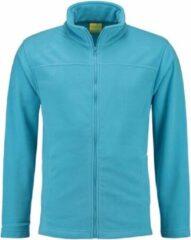 L&S Turquoise fleece vest met rits voor volwassenen S (36/48)
