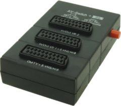 Zwarte Profile Scartbox 3V met schakelaar