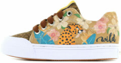 Beige Go Bananas sneaker Leopardo (GB LEOPARD-L). Maat 24
