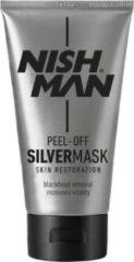Zilveren Nish Man Peel- Off Silver Mask- 150 ml