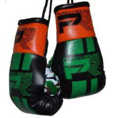 Punch Round™ Punch Round Mini Carhanger Bokshandschoenen Zwart Groen Oranje