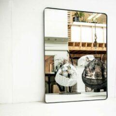 Donkergrijze Moodadventures   Staande Spiegels   Spiegel Stalen Lijst XL Ronde Hoeken   Staande Spiegel   240x180
