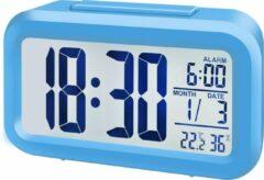 Bresser Wekker MyTime Duo Blauw incl. Binnentemperatuur en -Vochtigheid