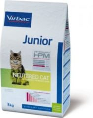 Virbac HPM Veterinary Junior Neutered Cat - Kattenvoer - 3 kg
