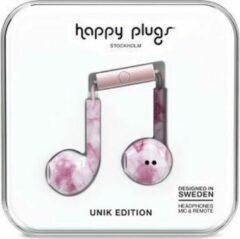 Roze Happy Plugs Hoofdtelefoon Earbud Plus Pink marble