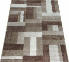Donkerbruine Zyb international  tapijt Woonkamer slaapkamer vloerkleed 120x170 cm ZYB International (code 200)