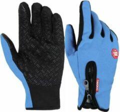 InterFixo Luxe Touch Screen Handschoenen - Blauw - Unisex - Waterproof - Heren