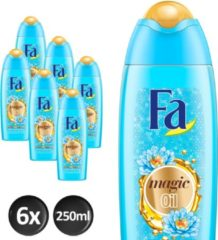 Fa Magic Oil Blue Lotus Douchecreme- 6x 250 ml - Voordeelverpakking