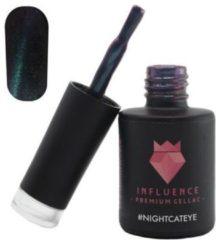 Influence - Premium Gellac Influence Gellac #NIGHTCATEYE - UV / LED Gellak - Gel nagellak - Gel lak - Blauw / Glitter / Magneet / Groen - 10 ml