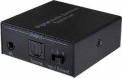 NÖRDIC SGM-131 SPDIF / TOSLINK digitale optische Audio switch 3 X 1 - Met afstandsbediening - Zwart