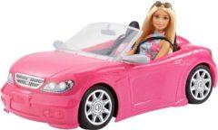 Roze Barbie Tienerpop 29 cm en Cabrio Voertuig 20 x 15 x 29 cm