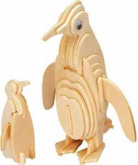 Merkloos / Sans marque 3D Puzzel Houten Bouwpakket Pinguïn