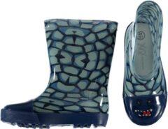 Blauwe Merkloos / Sans marque Peuter jongens regenlaarzen met krokodillen print 25