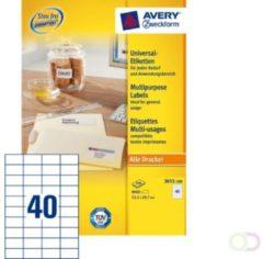 Etiket Avery Zweckform 3651 52.5x29.7mm wit 8000stuks