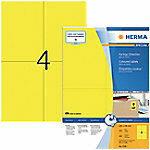 Herma 4396 Etiketten 105 x 148 mm Papier Geel 400 stuk(s) Permanent Universele etiketten Inkt, Laser, Kopie 100 vel DIN A4