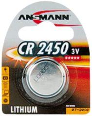 Ansmann Batterie Lithium Knopfzelle CR-2450 Ansmann Silber