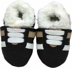 Zwarte BabySteps slofjes Winter Glamour Eskimo small