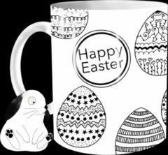 Witte The Mokken Boutique - Een Unieke MOK voor Pasen - een mok met paaseieren! Paasdecoratie, leuk geschenk, Mug pour Pâques, Paasbrunch, versier je tafel, Tasse originale
