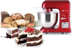 Rode MAGNANI Multifunctionele keukenmachine 1000 W, Kneedmachine met 6 snelheidsniveaus, Mixer, Mixer met 5L Roestvrijstalen mengkom