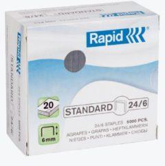 Bruna Nieten Rapid 24/6 gegalvaniseerd standaard 5000 stuks