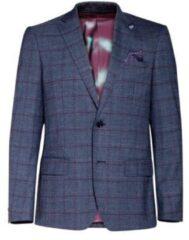 WE Fashion geruit regular fit colbert met wol donkerblauw
