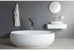 Ideavit Solidego Vrijstaand bad 170x95cm ovaal Solid surface wit 284378