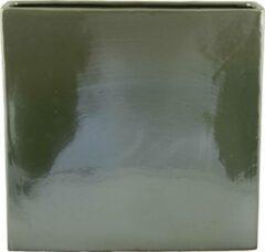 D&M Deco Cuboid Facet Neo Mint rechthoek L 38x11x37 cm Mintgroene bloempot voor binnen