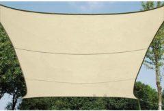 Perel Velleman waterdoorlatend zonnezeil - vierkant - 3.6 x 3.6 m - kleur: champagne gss4360pe