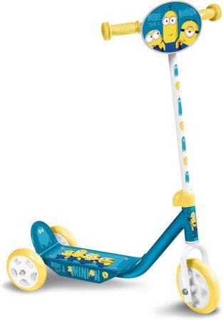 Afbeelding van Universal - 3-wiel Kinderstep Minions 2 Junior Voetrem Blauw/geel