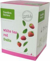 Witte Thee met Rode Vruchten - White tea Red Fruits - Garden Series Box (48 piramidebuiltjes)