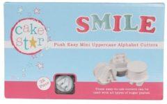 Witte Cake Star Push Easy Mini Cutters Uppercase Alphabet Set/26