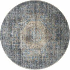 Home67 Vloerkleed Madel - Rond - ø160 cm - Groen/Blauw - Vintage