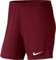 Bordeauxrode Nike Sportbroek - Maat XS - Vrouwen - bordeaux rood