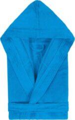 Duplex Cool Badjas met Capuchon Uni Cool Velours Turquoise col 2334 maat M