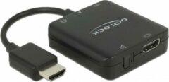 DeLOCK Premium HDMI naar stereo en 5.1 audio extractor - compact - HDMI 2.0 (4K 60Hz) / zwart