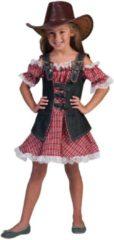 Rode Funny Fashion Verkleedpak cowgirl meisje Denim Ranger Meisje 116 - Carnavalskleding