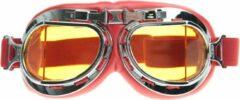 CRG rode pilotenbril - geel glas