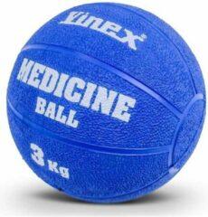 Vinex Robuuste Medicijnbal - Medicine bal - Rubber - Blauw - 3 kg