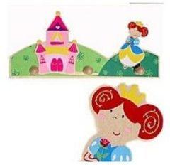 Beige Simply for Kids 22528P Houten Kapstok Prinses