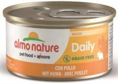 Almo Nature Almo kattenvoer mousse voor volwassene kat met kip 85gram 1x24 stuks