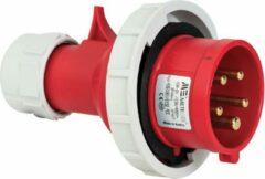 Mete - CEE male 5 polig 6H 16A IP67 - waterdicht - kracht - rood - stekker 380-415VAC